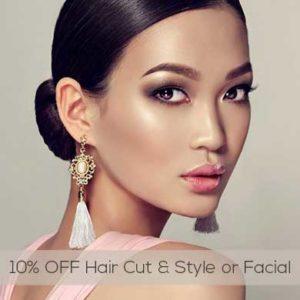 10 OFF Hair Cut Style or Facial at mojos salon chorley