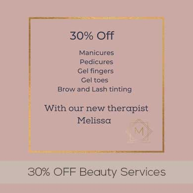 30% OFF Beauty Services